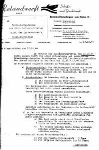 Schadensbericht Rolandwerft II